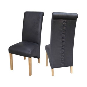 Treviso Dining Chairs in Black {Box of 2}