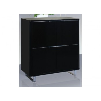 Accent High Gloss 4 Drawer Storage Unit in Black