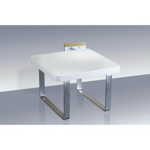 Accent High Gloss Lamp Table in White