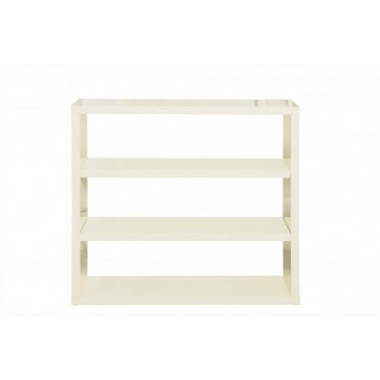 Puro Highgloss Bookcase in Cream