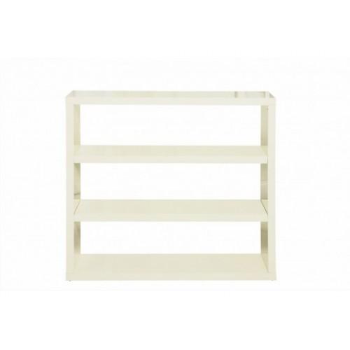 Puro Highgloss Bookcase in Cream