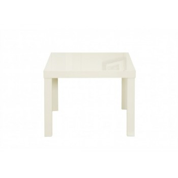 Puro Highgloss Lamp Table in Cream