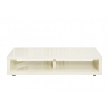 Puro Highgloss TV Media Stand in Cream