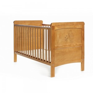 Winnie The Pooh Deluxe Cot Bed in Country Pine