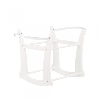 Rocking Moses Basket Stand in White *Out of Stock - Back Soon*
