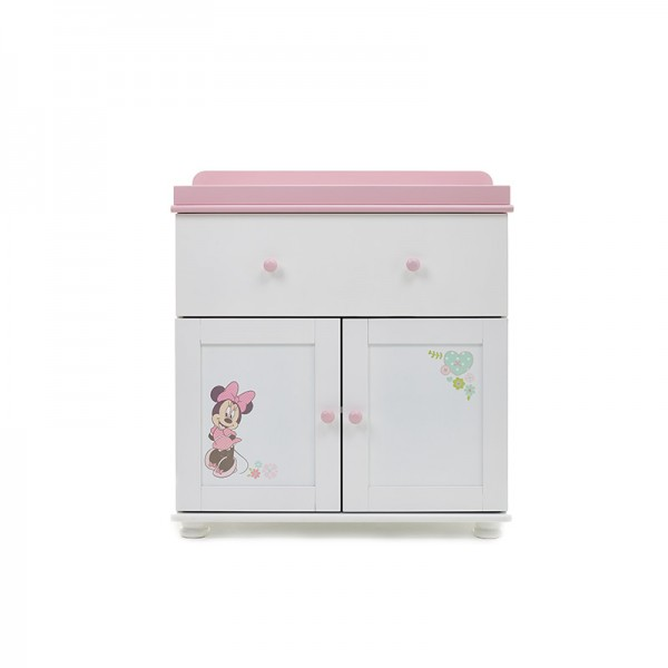 Closed Changing Unit Minnie White with Pink Trim