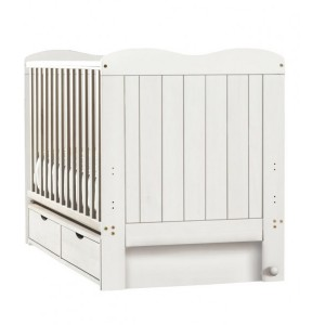 Glideaway White Cot Bed