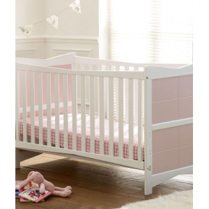 Kitty Pink & White Cot Bed *Out of Stock - Back Soon*