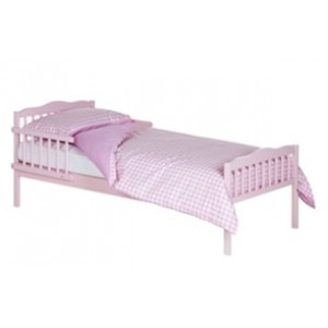 Junior Pink Bed in a Box with Cool Flow Mattress