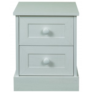 Asia 2 Drawer Bedside {Assembled} *Low Stock - Selling Fast*