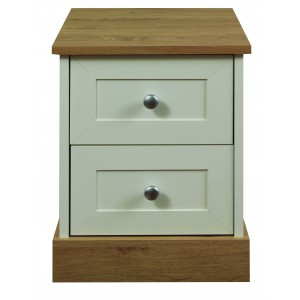 Beijing 2 Drawer Bedside {Assembled} *Low Stock - Selling Fast*