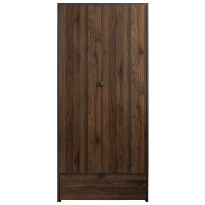 Boyd Grey/Walnut 2 Door Wardrobe [Assembled]