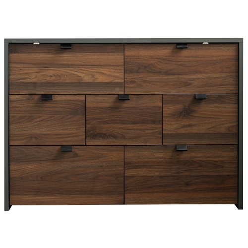 Boyd Grey/Walnut 7 Drawer Chest [Assembled]