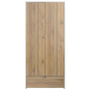 Boyd White/Oak 2 Door Wardrobe [Assembled]