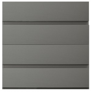 Carliyle Grey Highgloss 4 Drawer Chest [Assembled]