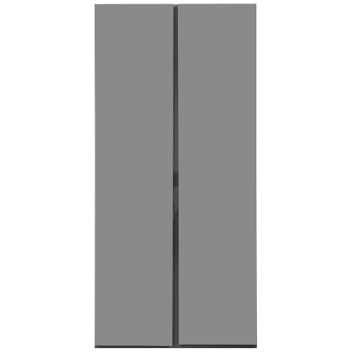 Carliyle Grey Highgloss 2 Door Wardrobe [Assembled]
