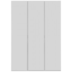 Carliyle White Highgloss 3 Door Wardrobe [Assembled]