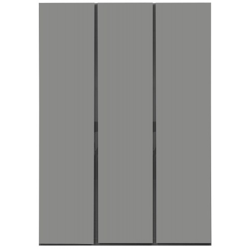 Carliyle Grey Highgloss 3 Door Wardrobe [Assembled]