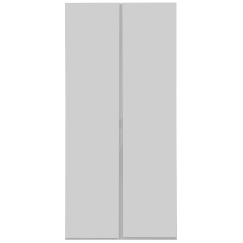 Carliyle White Highgloss 2 Door Wardrobe [Assembled]