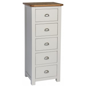 Cooper Grey 5 Drawer Tallboy Chest (Assembled)