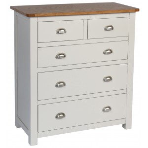 Cooper Grey 5 Drawer Chest (Assembled)