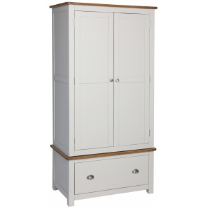 Cooper Grey 2 Door Wardrobe