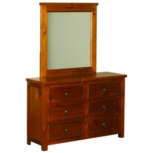 Curlew Wild Cherry 6 Drawer Chest {Assembled} *Low Stock - Selling Fast*