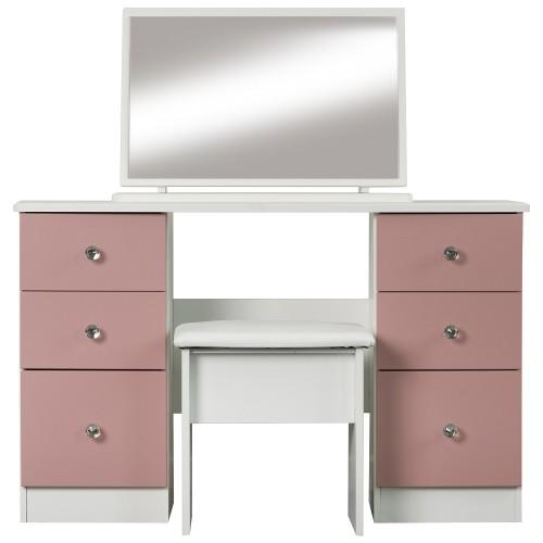 Dylan Twin Pedestal Dresser (Assembled)