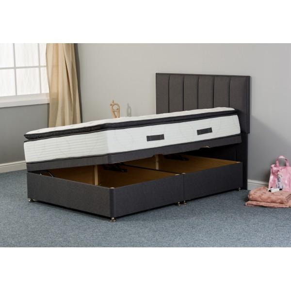 Katrina Silk 1000 Side-Lift Ottoman Divan Bed