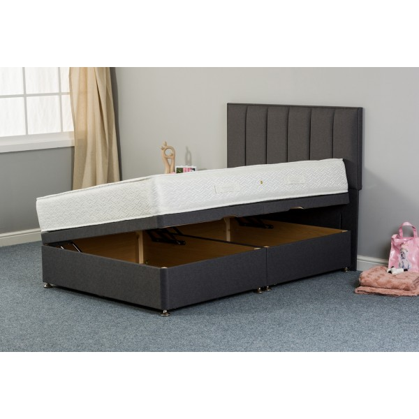 Maddie Pillowtop 1000 Side Lift Ottoman Divan Bed