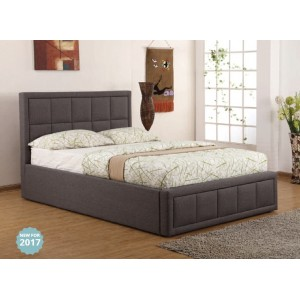 Sia Grey Ottoman Bed