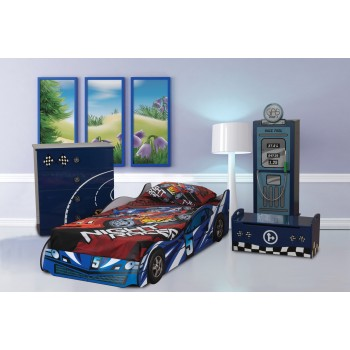 Formula Blue Car Bed