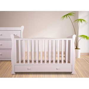 Izzy White Cot Bed *Low Stock - Selling Fast*