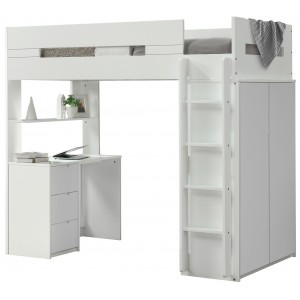 Lilo White High Sleeper Bunk