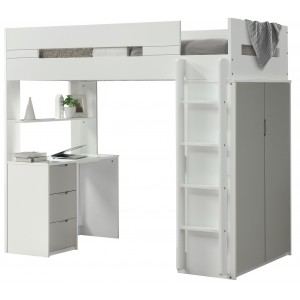 Lilo Grey & White High Sleeper Bunk