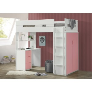 Lilo Pink & White High Sleeper Bunk
