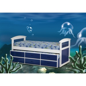 Ruby Blue Captains Bed *Low Stock - Selling Fast*