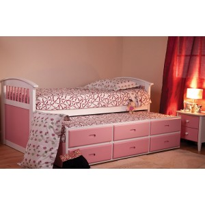 Ruby Pink Captains Bed *Low Stock - Selling Fast*