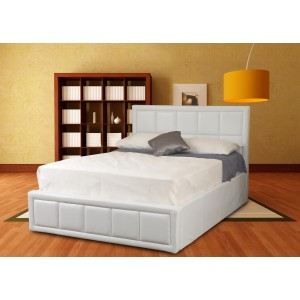 Tern White Ottoman Bed