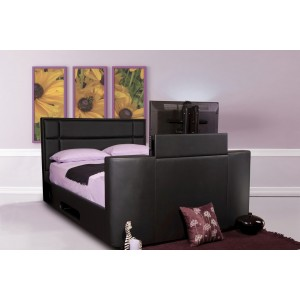 Hayden TV Ottoman Bed in Black *Low Stock - Selling Fast*