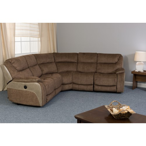 Waterloo Smoky Deluxe Corner 5 Seater Recliner Sofa
