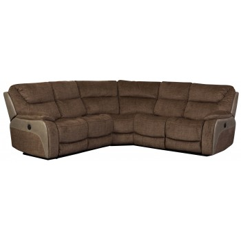 Waterloo Fawn Deluxe Corner 5 Seater Recliner Sofa