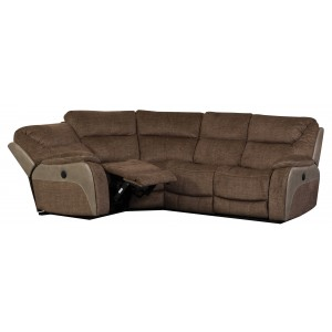 Waterloo Fawn Corner 4 Seater Recliner Sofa