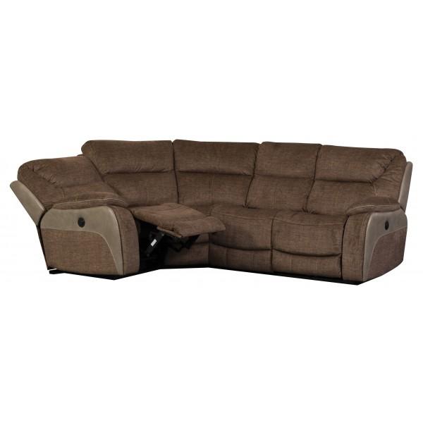 Waterloo Fawn Corner 4 Seater Recliner Sofa