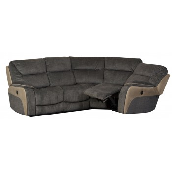 Waterloo Smoky Corner 4 Seater Recliner Sofa