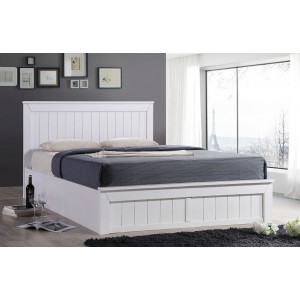 Chandler White Ottoman Bed