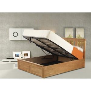 Coliseum Oak Ottoman Bed