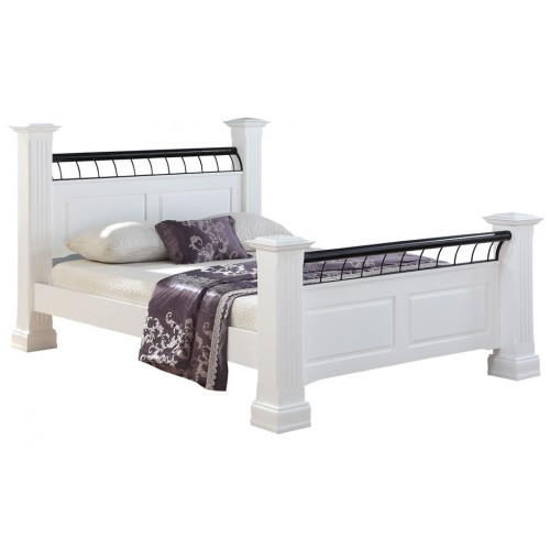 Hunter White Bed