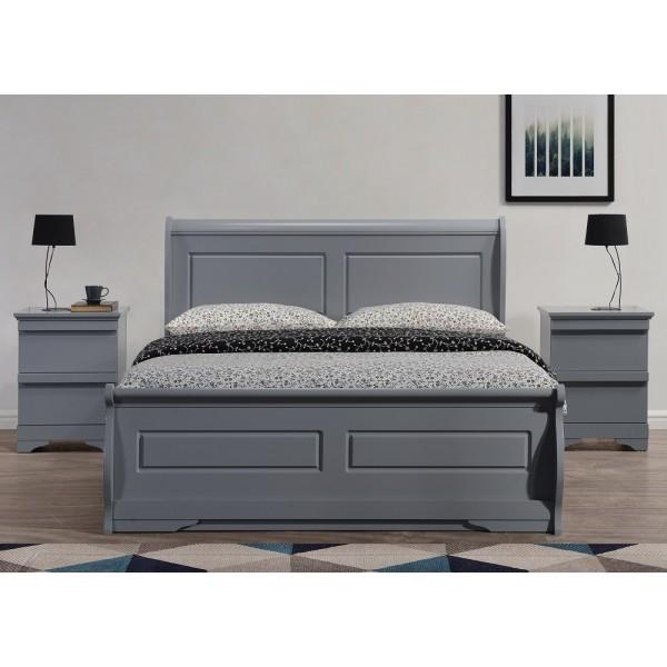 Robin Grey Sleigh Ottoman Bed