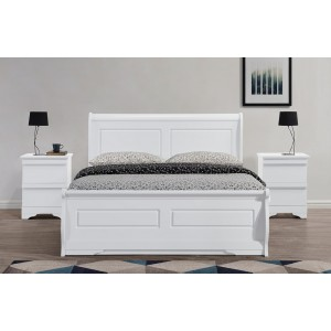 Robin White Sleigh Ottoman Bed